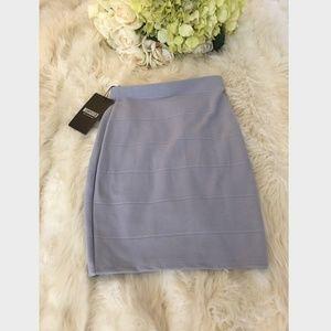 NEW! Missguided Women's Gray Bandage Mini Skirt 1